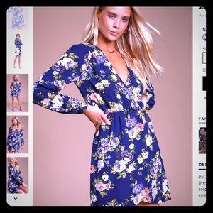 NWT Lulus Floral Print Wrap Dress